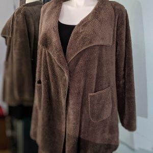 Soft Surroundings fleece fluffy jacket